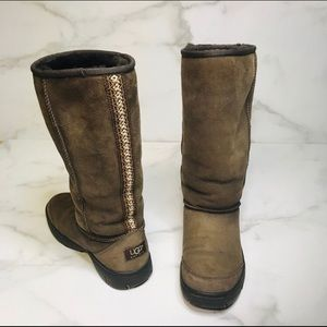 UGG Brown Ultimate Tall Braided Boots